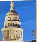 Capitol Dome Color 16 Wood Print