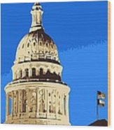 Capitol Dome Color 6 Wood Print by Scott Kelley