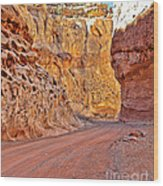 Capitol Gorge Trail At Capitol Reef Wood Print