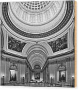 Capitol Interior Wood Print by Ricky Barnard