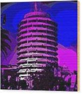 Capitol Records Building Wood Print