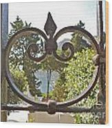 Capri Through Gate Wood Print by Italian Art