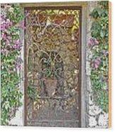 Capri-timeless Gate Wood Print by Italian Art