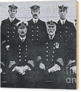 Captain And Officers Of The Titanic Wood Print