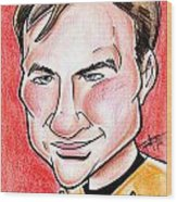 Captain James T. Kirk Wood Print by Big Mike Roate