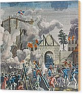 Capture Of Bastille, 1789 Wood Print by Granger