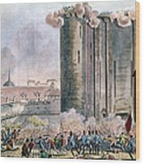 Capture Of The Bastille Wood Print