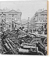 Captured German Guns At Palace De La Concorde In Paris - France Wood Print