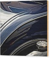 Car Abstract Wood Print by Odd Jeppesen