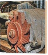 Car Alternator Wood Print