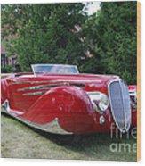 Car At Meadowbrook Wood Print