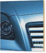 Car Face Wood Print
