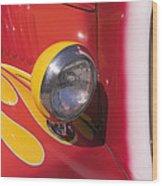 Car Headlight Wood Print by Garry Gay