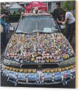 Car Of Teeth Wood Print