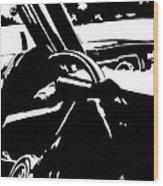 Car Passing Wood Print