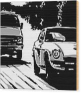 Car Passing Nr 2 Wood Print by Giuseppe Cristiano