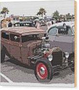Car Show 1928 Wood Print