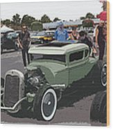 Car Show Coupe Wood Print by Steve McKinzie