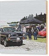 Car Show Gasser Wood Print by Steve McKinzie