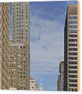 Carbide And Carbon And Wrigley Building - Two Chicago Classics Wood Print