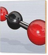 Carbon Dioxide Molecule Wood Print