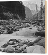 Carbon River Wood Print
