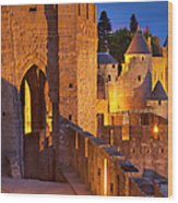 Carcassonne Ramparts Wood Print