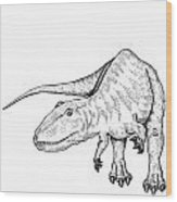 Carcharodontosaurus - Dinosaur Wood Print