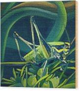 Card Of Mister Grasshopper Wood Print