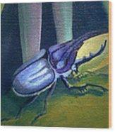 Card Of Nosey Bug Wood Print