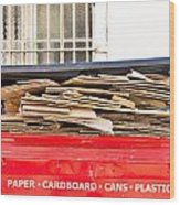 Cardboard  Wood Print by Tom Gowanlock