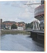 Cardiff In Wales Wood Print