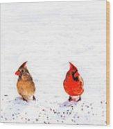 Cardinal Couple II Wood Print