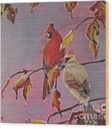Cardinals In Falls Wood Print