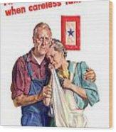 Careless Talk Kills -- Ww2 Propaganda Wood Print