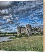 Carew Castle Pembrokeshire 3 Wood Print