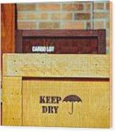 Cargo Crates Wood Print