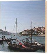 Cargo Port Wood Print