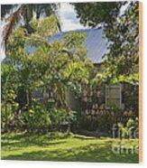 Caribbean Garden Wood Print
