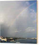 Caribbean Rainbow Wood Print