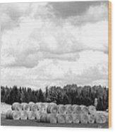 Cariboo Country Hay Bales Wood Print