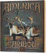Caribou Wood Print by JQ Licensing