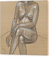 Carina Seated Wood Print