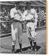 Carl Hubbell & Vernon Lefty Gomez Wood Print by Everett