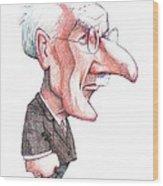 Carl Jung, Caricature Wood Print