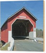 Carlton Covered Bridge Wood Print