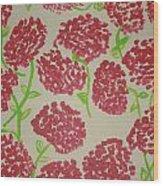 Carnation Field Wood Print