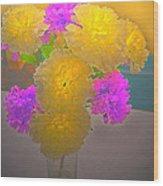 Carnation Glow Wood Print