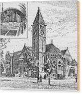 Carnegie Library, 1890 Wood Print