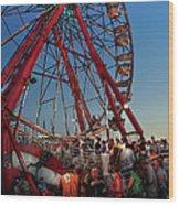 Carnival - An Amusing Ride  Wood Print